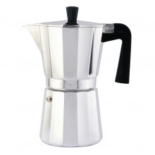 Cafetera aluminio vitriocerámica 12 tazas OROLEY
