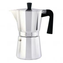 Cafetera aluminio vitriocerámica 9 tazas OROLEY