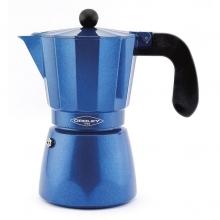 Cafetera aluminio Blue inducción 6 tazas OROLEY