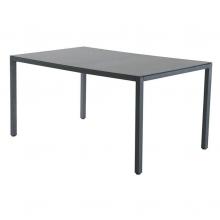 Mesa rectangular 150x90x72cm aluminio cristal ferreter a for Mesa cristal 150 x 60