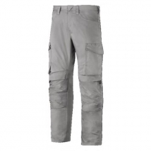Pantalon largo servicios + portarodilleras 6801 gris acero SNICKERS