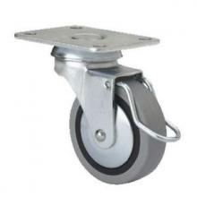 Rueda giratoria freno 1-0400 60Ømm 25kg goma ALEX