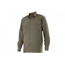 Camisa manga larga 530-3 verde caza VELILLA