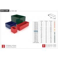 Cubeta V-APE 507 roja HECO