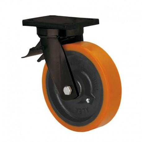 Rueda giratoria con freno 2-1761 150Ømm 800kg poliuretano ALEX