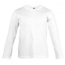 Camiseta algodon m/larga blanca T-M