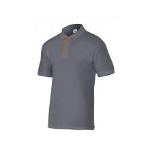 Polo manga corta gris/naranja p105502-8/16 VELILLA