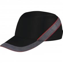 Gorra proteccion Air Coltan negra/gris/roja visera 5cm DELTAPLUS