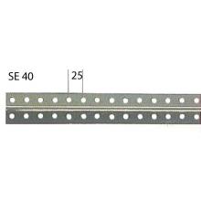 Perfil ranurado gris SE/40 2m