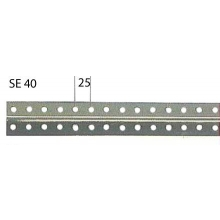 Perfil ranurado gris SE/40 2,5m