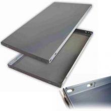 Panel ranurado gris 1000x500mm