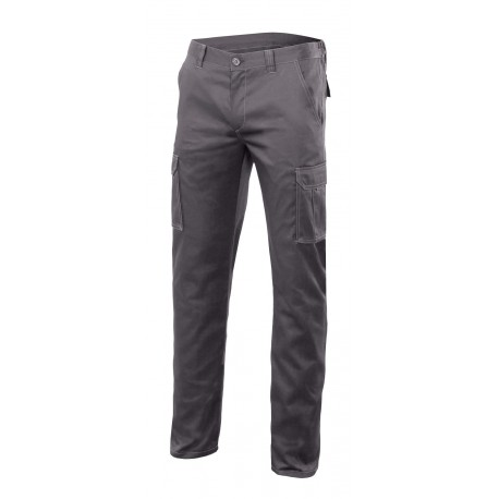 Pantalon multibolsillos stretch 103002s-8 gris VELILLA