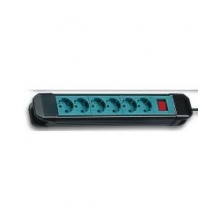 Base 10 tomas TT interruptor+cable 3m verde FAMATEL