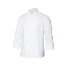 Chaqueta cocinero con cremallera oculta 405202TC-7 blanco VELILLA