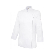 Chaqueta cocinera con cremallera oculta 405203TC 7 blanco VELILLA