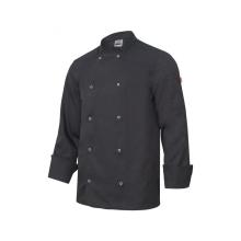 Chaqueta cocinero manga larga automatico 405206 0 negro VELILLA