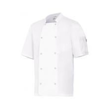 Chaqueta cocinero manga corta automatico 405205 7 blanco VELILLA