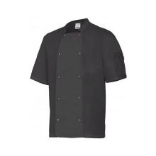 Chaqueta cocinero manga corta automatico 405205 0 negro VELILLA