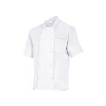 Chaqueta cocinero manga corta 432 7 blanca VELILLA