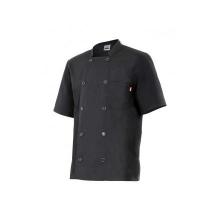 Chaqueta cocinero manga corta 432 0 negra VELILLA