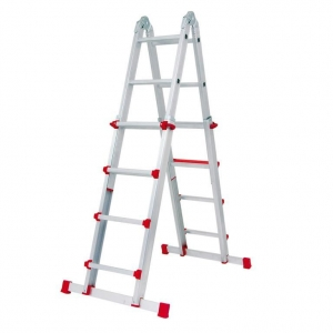 Escalera telescopica aluminio 4x4 altura 4 9 metros max for Escalera de aluminio extensible 9 metros