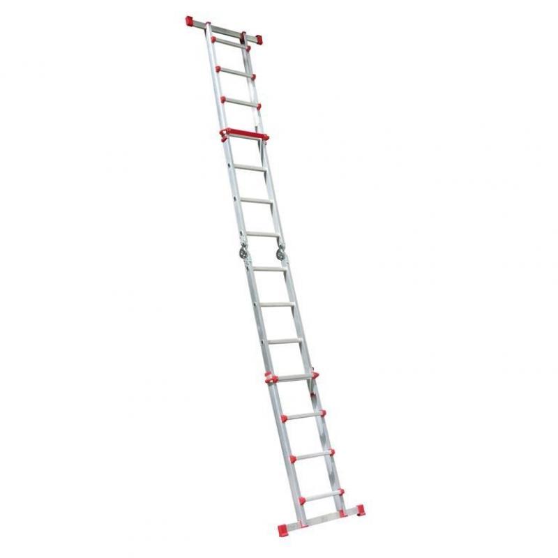 escalera telescopica aluminio 4x4 altura 4 9 metros max