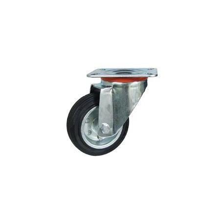Rueda giratoria 2-0223 80ømm 80kg goma ALEX