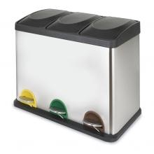 Cubo pedal ecológico triple 15l+15l+15l HABITEX
