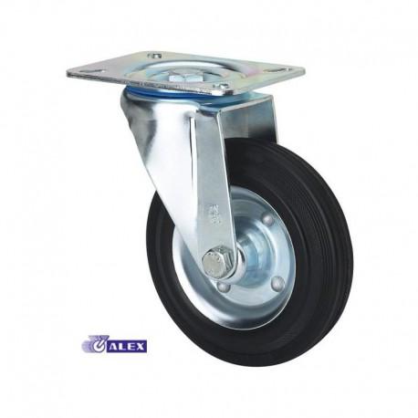 Rueda giratoria 2-0225 100Ømm 110kg goma ALEX