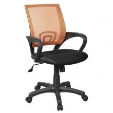 Silla Cintia negra y naranja sin brazos 54x43,5x77/89cm