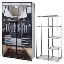 Armario auxiliar de tela con estantes 88x45x160cm