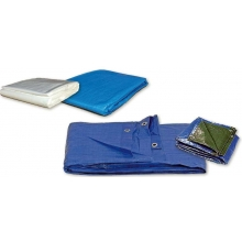 Toldo polietileno azul/verde 3x5m 90gr ABRATOOLS
