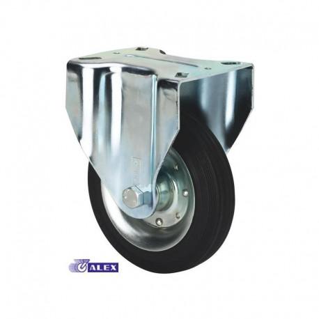 Rueda fija 2-0234 200ømm 230kg goma ALEX