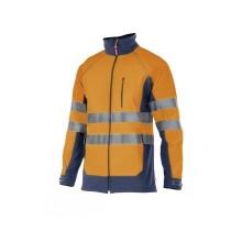 Soft shell alta visibilidad 306001-210 naranja/azul marino VELILLA