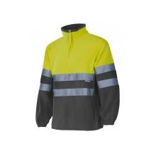 Forro polar alta visibilidad 182-90 amarillo/gris VELILLA