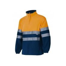 Forro polar alta visibilidad 182-210 naranja/azul VELILLA