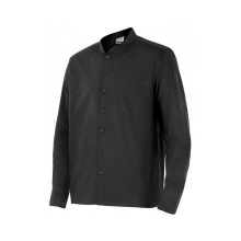 Camisa cuello mao hombre LISTAN-0 negra VELILLA