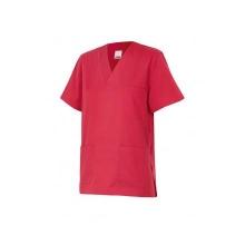 Camisola pijama de manga corta 589-24 rojo coral VELILLA
