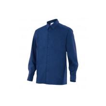 Camisa de manga larga 529-1 azul marino VELILLA