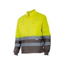 Cazadora alta visibilidad 153-90 amarillo/gris VELILLA