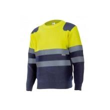 Jersey bicolor alta visibilidad 179-70 amarillo/azul VELILLA