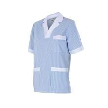 Camisola pijama a rayas manga corta 585-5 celeste VELILLA