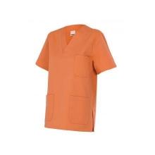 Camisola pijama de manga corta 589-22 naranja claro VELILLA