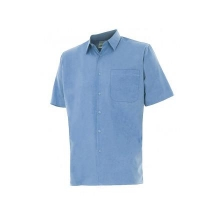 Camisa manga corta 531-5 celeste VELILLA
