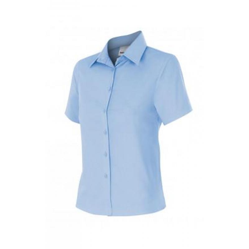Camisa mujer manga corta 538 5 celeste VELILLA Ferretería