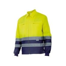 Cazadora alta visibilidad 153-70 amarillo/azul VELILLA