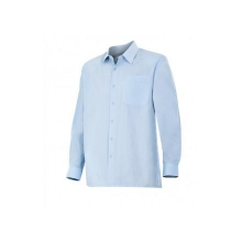 Camisa de manga larga 529-5 celeste VELILLA