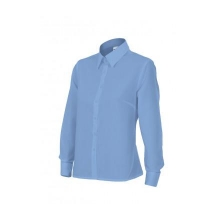 Camisa mujer manga larga 539-5 celeste VELILLA