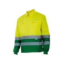 Cazadora alta visibilidad 153-180 amarillo/verde hierba VELILLA
