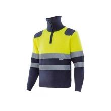 Jersey con cremallera alta visibilidad 301001-70 amarillo/az VELILLA